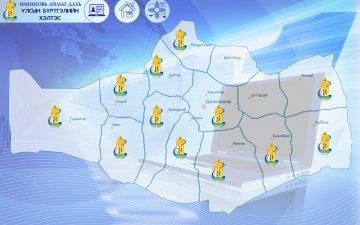Өмнөговь аймгийн Сэврэй, Ноён, Гурвантэс сумдууд Улсын бүртгэлийн нэгдсэн сүлжээнд холбогдлоо