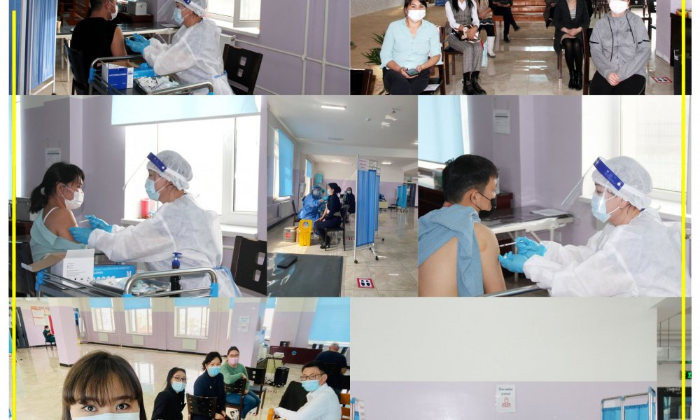 Улсын бүртгэлийн хэлтсийн албан хаагчид корона вирусээс урьдчилан сэргийлэх вакцины II тундаа хамрагдлаа