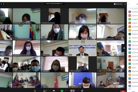 УБЕГ-с 21 аймаг, 9 дүүрэг дэх Улсын бүртгэлийн хэлтэстэй цахимаар хуралдаж, чиглэл өглөө