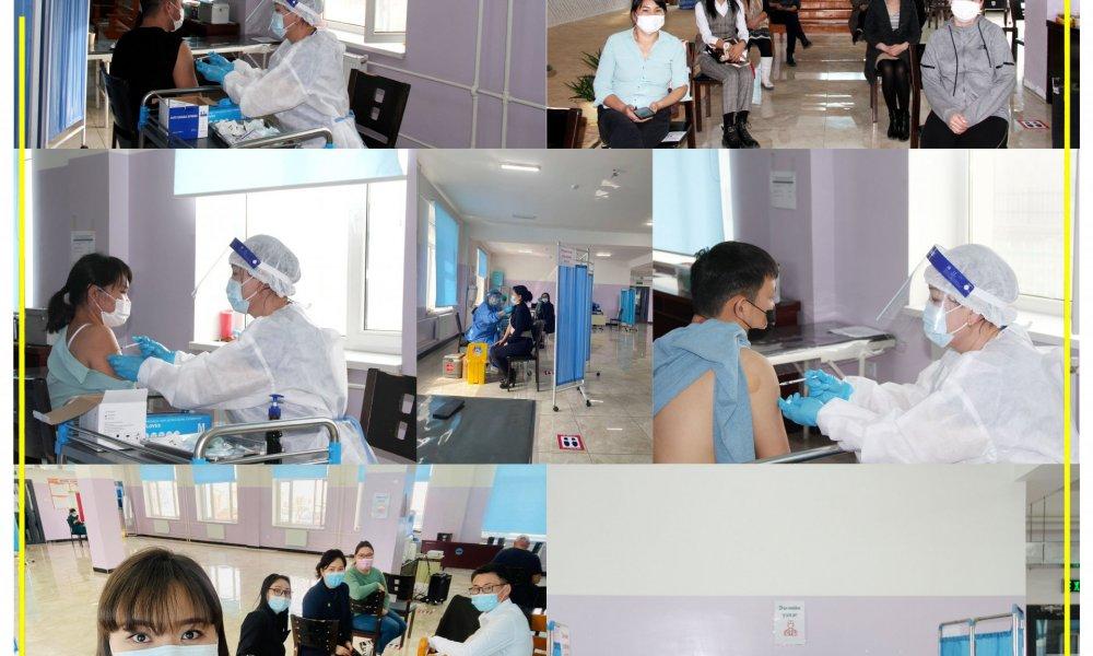 Өмнөговь аймаг дахь Улсын бүртгэлийн хэлтсийн алба хаагчид корона вирусээс урьдчилан сэргийлэх вакциндаа хамрагдлаа