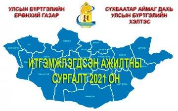 Монгол Улсын Ерөнхийлөгчийн сонгуулийн ирц бүртгэлийн программын дадлага олгох сургалт зохион байгуулагдлаа