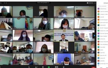 21 аймаг, 9 дүүрэг дэх Улсын бүртгэлийн хэлтэстэй цахимаар хуралдаж, чиглэл өглөө