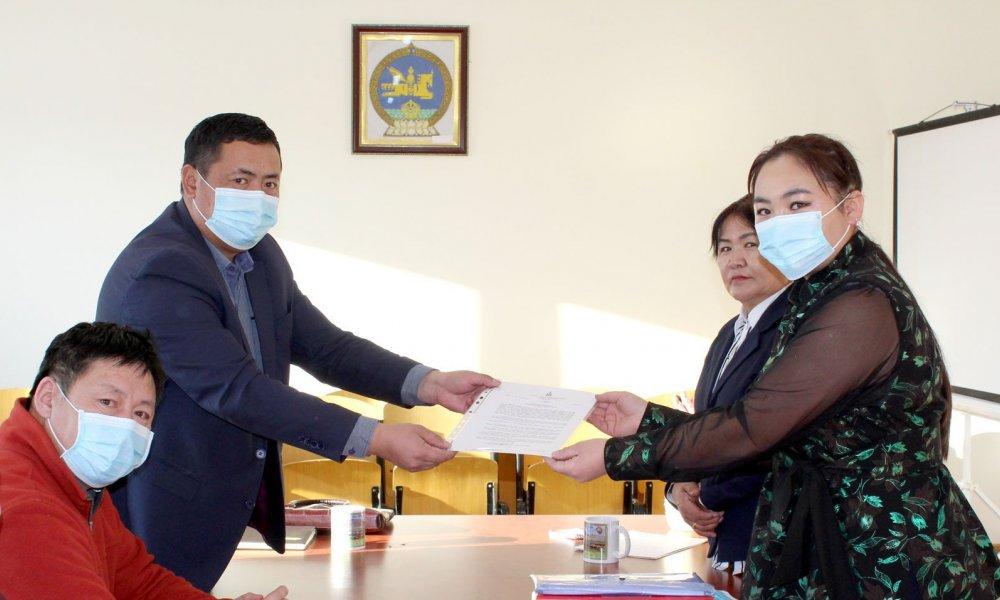 Завхан аймгийн Тэс сумын улсын бүртгэгч шинээр томилогдлоо